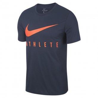 Pánské tričko Nike Swoosh Athlete - blue hyper