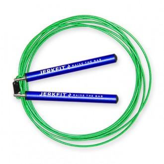 Rychlostní švihadlo JerkFit Omega Speed Rope - modro zelené