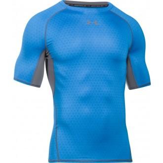 Pánské kompresní tričko Under Armour HG Printed blue/gray