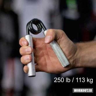 Ocelové posilovací kleště prstů a zápěstí odpor - 113 kg / 250 lb