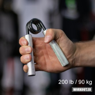 Ocelové posilovací kleště prstů a zápěstí odpor - 90 kg / 200 lb