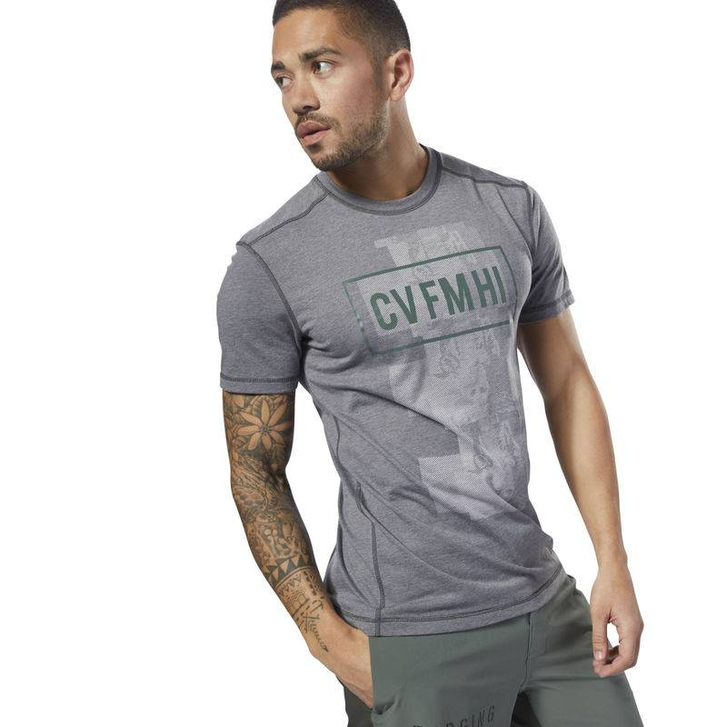 Pánské tričko Reebok CrossFit Burnout SS Tee - Solid - D94898