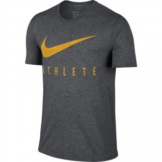 Pánské tričko Nike Swoosh Athlete - šedé