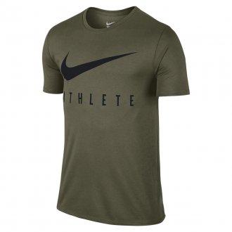 Pánské tričko Nike Swoosh Athlete - olive