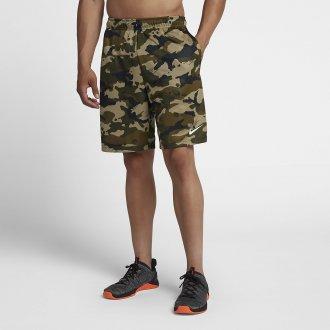 Pánské tréninkové šortky Nike šedé camo green