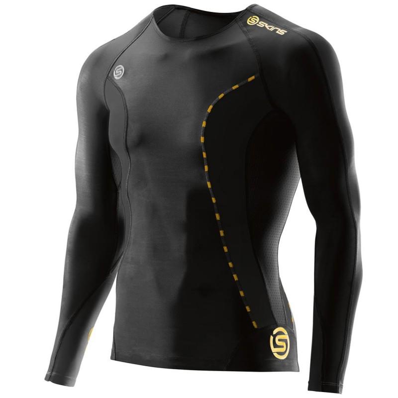 Skins DNAmic Mens Compression Long Sleeve Top - Black