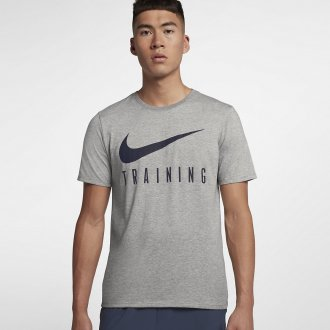 Pánské fitness tričko Nike TRAINING - šedé