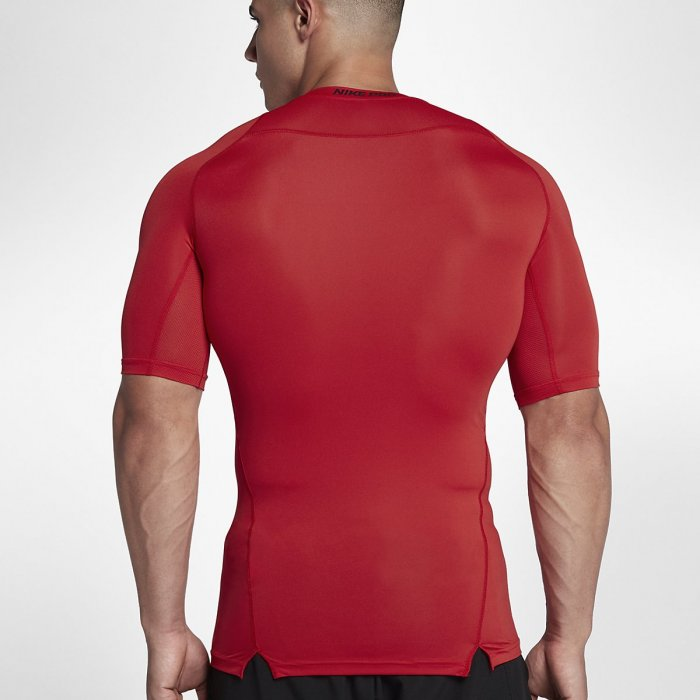 Pánské kompresní tričko Nike s krátkým rukávem - Nike Pro red