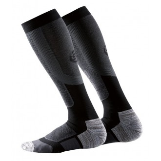 Kompresní podkolenky Skins Essentials Mens Comp Socks Active Thermal - Black/Pewter