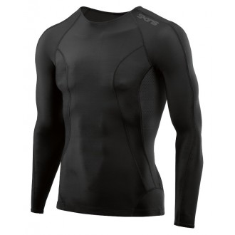 Pánské kompresní triko Skins DNAmic Mens Top Long Sleeve Black/Black