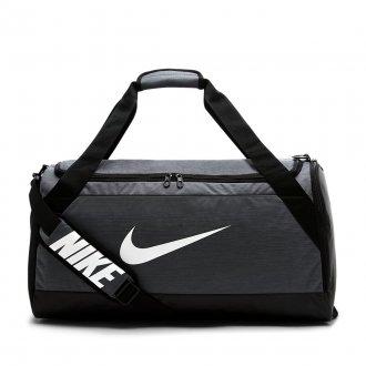 Dámská tréninková sportovní taška Nike Brasilia - stříbrná