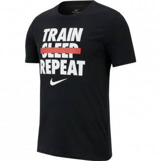 Pánské tričko Nike  DRY TEE VERB Train Repeat Black