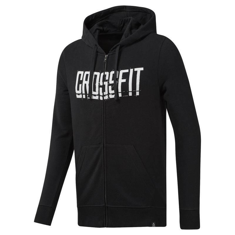 Pánská mikina Reebok CrossFit Zip Hoodie - DU4614 - BotyObleceni.cz 21c41e972c