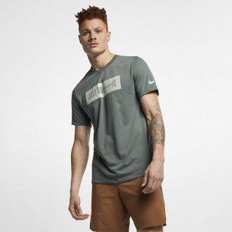 Pánské tričko Nike DB bar - šedé