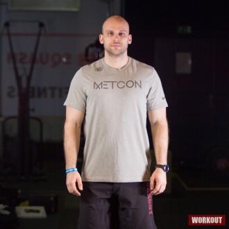 Pánské tričko Nike Metcon - šedo zelené