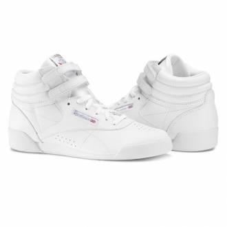 af04cd40a50 Dětské závodní bílé boty na aerobik Reebok Freestyle ...