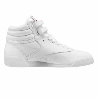 Dětské závodní bílé boty na aerobik Reebok Freestyle HI f/s Classic - CN2553