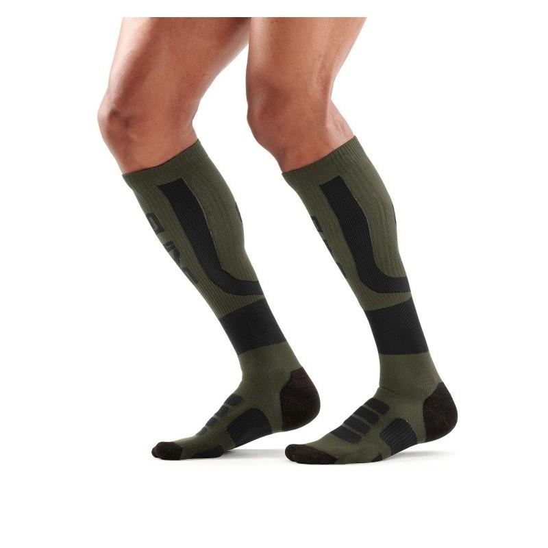Pánské kompresní podkolenky Skins Essentials Comp Socks Active Midw Black/Utility