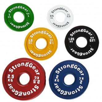 Set ocelových frakčních kotoučů StrongGear - 17,5 Kg