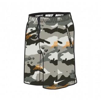 Pánské tréninkové šortky Nike šedé - camo green