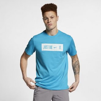 Pánské tričko Just do it Swoosh - modrá