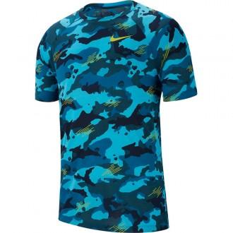 Pánské tričko Nike Dry Leg Tee - modrý maskáč