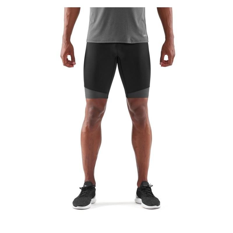 Pánské kompresní šortky Skins DNAmic CORE Mens Long Half Tights Black