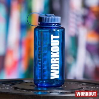 Láhev na pití WORKOUT 1000 ml - modrá Tritan