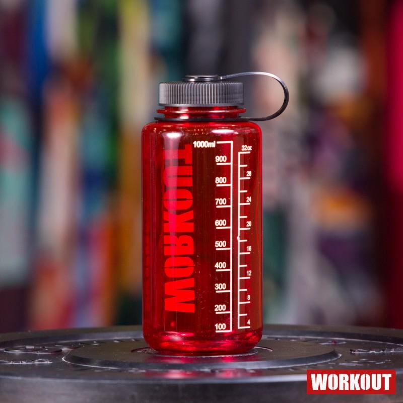 Láhev na pití WORKOUT 1000 ml - červená Tritan