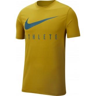 0185ef26b17d Pánské tričko Athlete Dri-FIT Swoosh - žluté