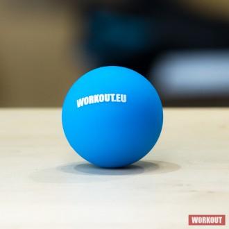 Masážní míček Lacrosse ball WORKOUT - modrý