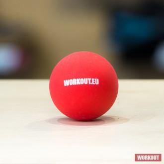 Masážní míček Lacrosse ball WORKOUT - červený