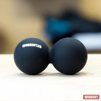 Masážní míček Double Lacrosse ball WORKOUT - černý