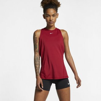 Dámské tílko Nike ALL OVER MESH - červené