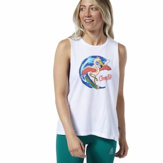 Dámské tričko Reebok CrossFit Surfer Flamingo Muscle - EC1461