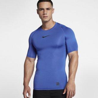 Pánský tréninkový top Nike s krátkým rukávem - Nike Pro - modré