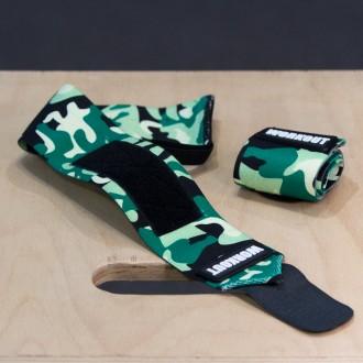 Bandáže zápěstí 48 cm WORKOUT - Zelené Camo
