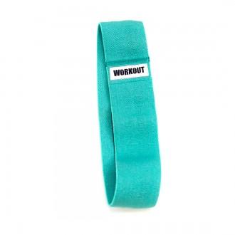 Textilní odporová guma / loop band WORKOUT - tyrkysová
