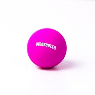 Masážní míček Lacrosse ball WORKOUT - růžový