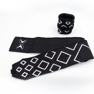Zpevňovače zápěstí Picsil bavlna - černé
