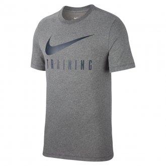 Pánské fitness tričko Nike TRAINING - šedivé