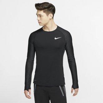 Pánské tréninkové tričko s dlouhým rukávem - černé