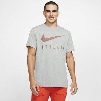 Pánské tričko Athlete Dri-FIT Swoosh - tmavě šedé