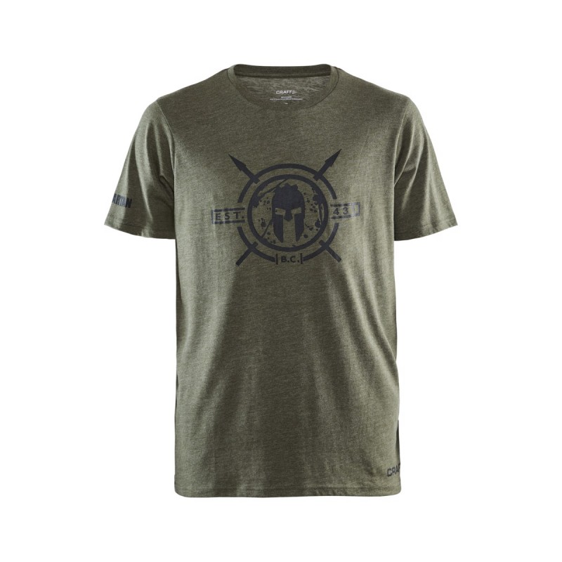 Pánské tričko CRAFT SPARTAN SS Casual - zelené