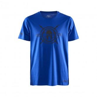 Pánské tričko CRAFT SPARTAN SS Casual - modré