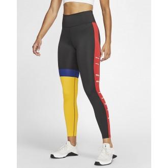 Dámské legíny Nike One 7/8 black/red/yellow
