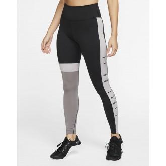 Dámské legíny Nike One 7/8 černo-šedivé