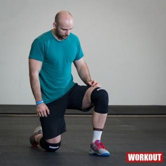 Bandáž kolene WORKOUT 5 mm - pár - černá