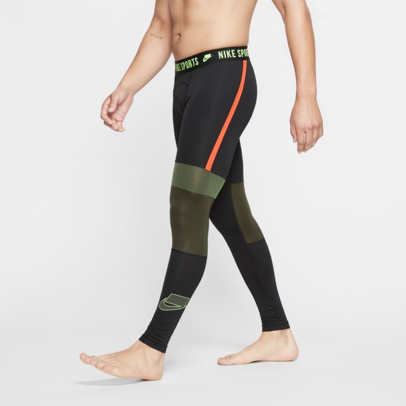 Pánské legíny Nike Pro - SCREAM GREEN