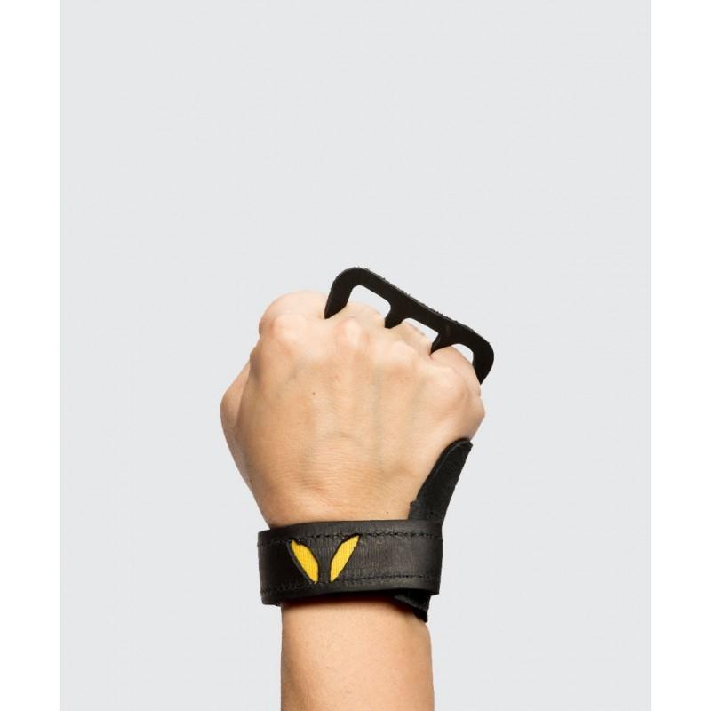 Dámské kožené 3-prsté mozolníky Victory Grips - black